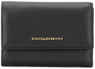 Dolce & Gabbana Logo Plaque Tri-Fold Wallet
