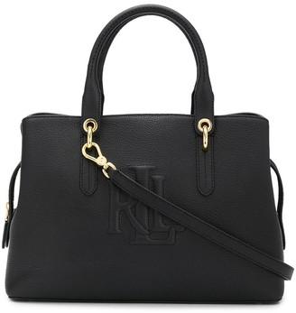 Lauren Ralph Lauren Hayward logo embossed satchel