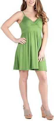 24/7 Comfort Apparel 24/7 Comfort Dresses Spaghetti Strap Mini Summer Dress