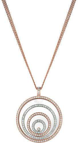 Chopard Happy Spirit 18k Two-Tone Diamond Long Pendant Necklace, 3.17tcw