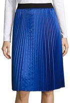 T Tahari Pleated A-Line Skirt