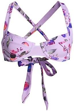 PQ Perla Passion Fruit Crisscross Bralette Bikini Top