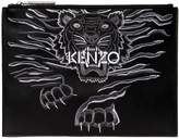 Kenzo Tiger Embroidered Leather Pouch