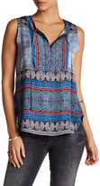 Gypsy 05 Gypsy05 Sleeveless Button Bib Shirt Tale Tank