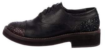 Brunello Cucinelli Leather Lace-Up Oxfords