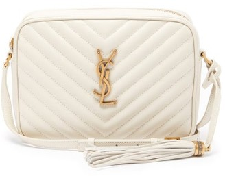 Saint Laurent Lou Medium Quilted-leather Cross-body Bag - White