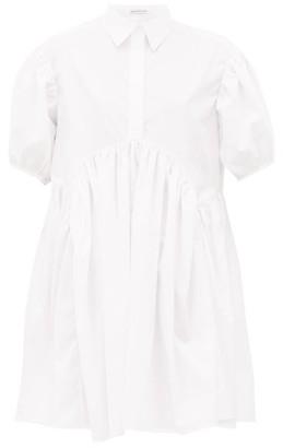Cecilie Bahnsen Esther Gathered Cotton-poplin Shirtdress - White