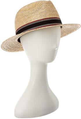 Saint Laurent Panama Canvas Ribbon Straw Hat