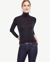 Ann Taylor Extrafine Merino Wool Turtleneck Sweater