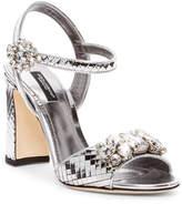 Dolce & Gabbana Jeweled Metallic Sandal