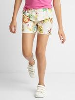 Floral eyelet tassel shorts