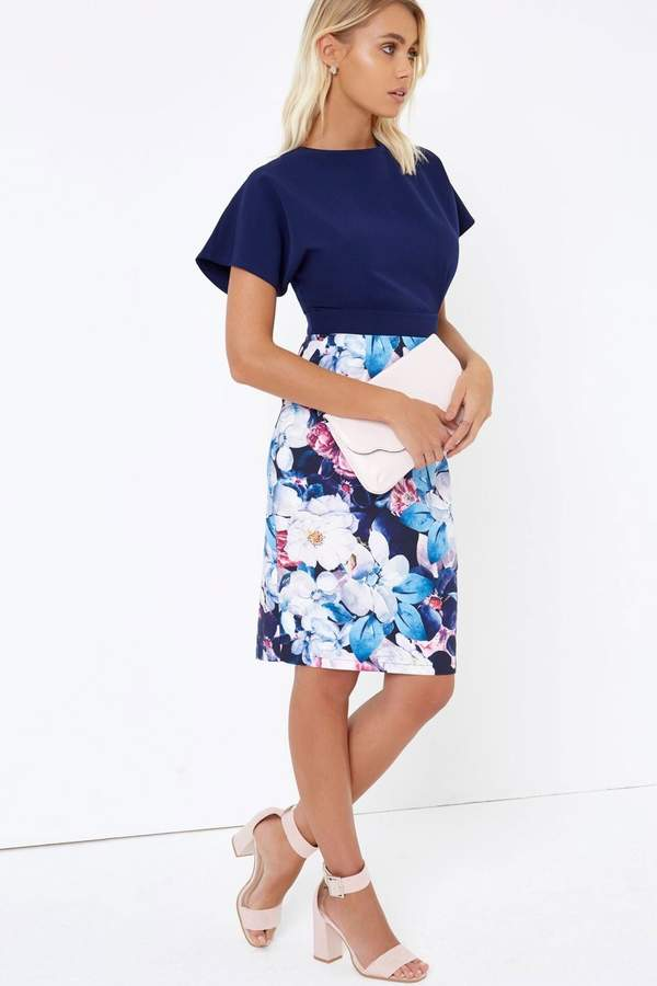 Paper Dolls Outlet Navy Bodycon Dress