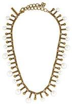 Oscar de la Renta Pearl & Crystal Collar Necklace