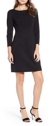 Anne Klein Long Sleeve Ponte Sheath Dress