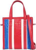 Balenciaga Mini Bazar Striped Leather Tote Bag