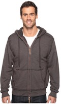 True Grit Cashmere Terry Zip Hood Jacket with Sherpa