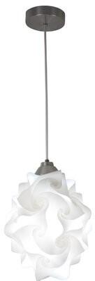 """Orren Ellis Mahdi 1-Light Unique / Statement Geometric Pendant Size: 12"""" H x 9"""" W x 9"""" D, Lamp Holder Type: E26 - Default"""