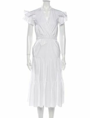Philosophy di Lorenzo Serafini V-Neck Midi Length Dress White