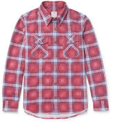 Visvim Checked Cotton-flannel Shirt - Red