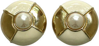 One Kings Lane Vintage Givenchy Oversize Two-Tone Earrings - Wisteria Antiques Etc