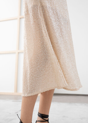 And other stories Sequin Embellished Midi Skirt