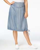 Standards and Practices Trendy Plus Size Denim A-Line Skirt