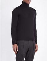 HUGO BOSS Slim-fit wool turtleneck jumper