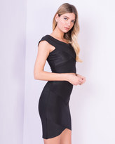 Missy Empire Avalon Black Bandage Crop Top & Skirt