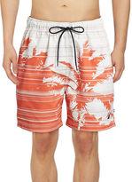 Nautica Palm Print Swim Trunks
