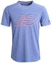 New Balance Sports Shirt Marine Blue Heather
