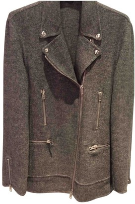 Alexander Wang Grey Wool Coat for Women