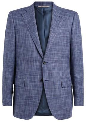 Canali Check Cotton-Silk Jacket
