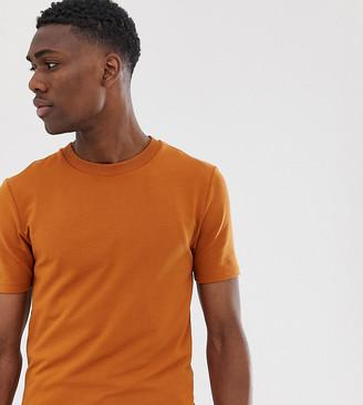 ASOS DESIGN Tall short sleeve muscle super heavyweight t-shirt in rusty brown