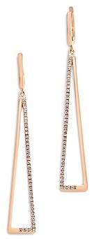 Bloomingdale's Diamond Geometric Drop Earrings in 14K Rose Gold - 100% Exclusive