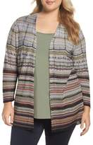 Nic+Zoe Plus Size Women's Colorscale Open Cardigan