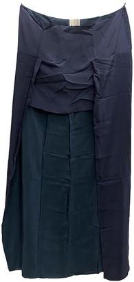 Richard Nicoll Navy Silk Skirt for Women
