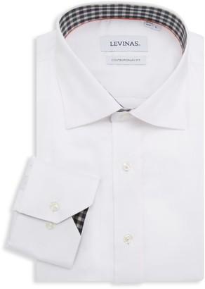 Levinas Contemporary-Fit Spread-Collar Dress Shirt