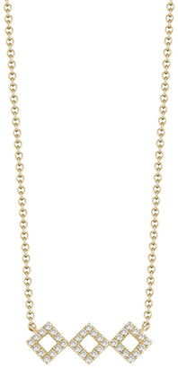 Dana Rebecca 14K Yellow Gold Diamond Accented Lisa Michelle Necklace - 0.13 ctw