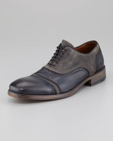 John Varvatos Fleetwood Leather and Canvas Lace-Up