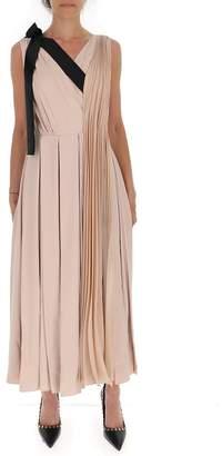 Prada Belted Pleated Midi Dress