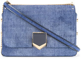 Jimmy Choo City Lockett denim shoulder bag - women - Cotton/Calf Leather - One Size