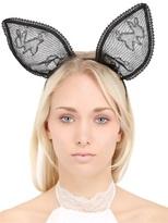 kourtney kardashian  Who made Kourtney Kardashians black lace bunny ear headbands?