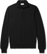 Brioni Wool Half-Zip Sweater