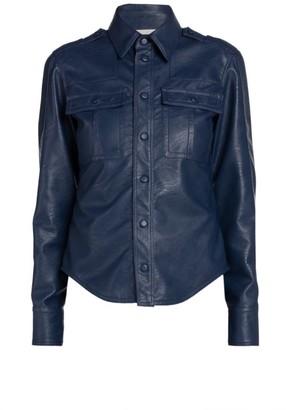 Stella McCartney Spring Hill Faux-Leather Shirt