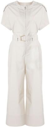 3.1 Phillip Lim Cutout-Detail Short-Sleeve Jumpsuit