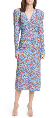 Rotate by Birger Christensen Heather Floral Print Long Sleeve Midi Dress