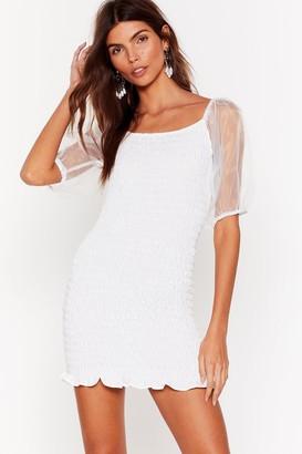 Nasty Gal Womens Have You Shirred the News Organza Mini Dress - White