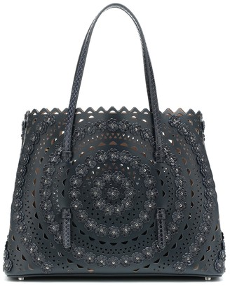 Alaia Mina Medium leather tote