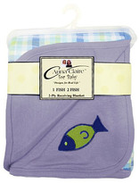 3 Pack of One Fish Two Fish Receiving Blanket