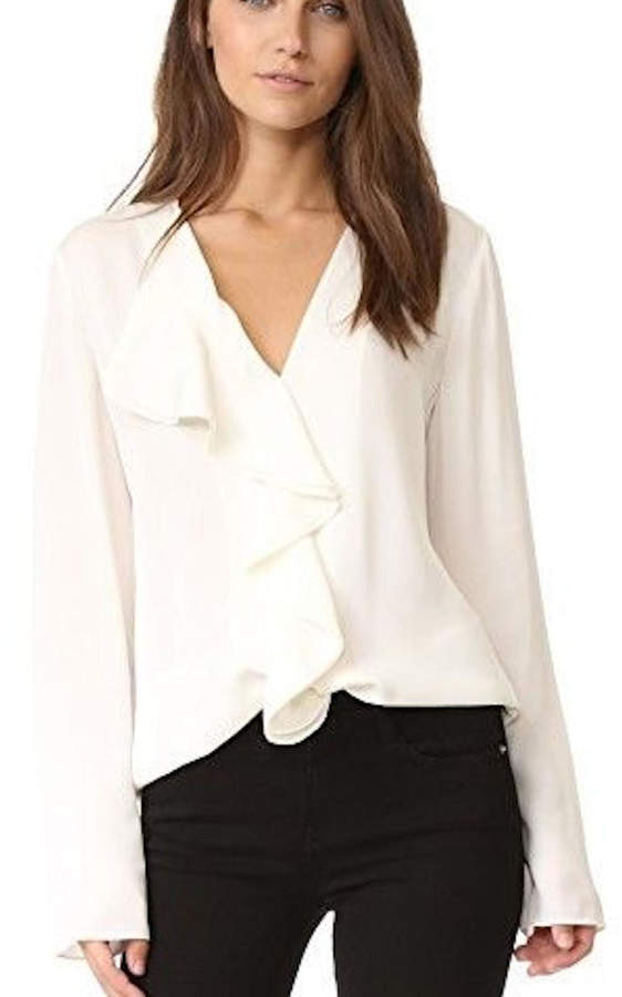 Theory Ruffled Blouse